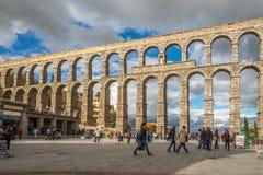 El acueducto de Segovia imágenes de archivo libres de regalías
