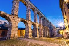 El acueducto romano famoso de Segovia con más de 2000 años de antigüedad imagen de archivo libre de regalías