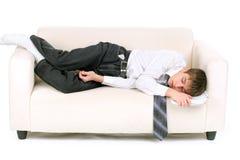 El adolescente ayuna dormido Fotografía de archivo libre de regalías