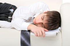 El adolescente ayuna dormido Imágenes de archivo libres de regalías