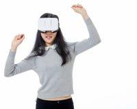 El adolescente baila con las gafas 3D Imágenes de archivo libres de regalías
