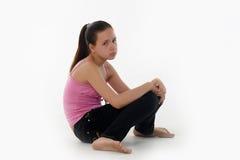 El adolescente de la muchacha en la depresión Imagen de archivo