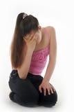 El adolescente de la muchacha en la depresión Fotos de archivo libres de regalías