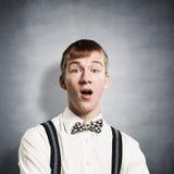 El adolescente dejado estupefacto con la boca se abri? foto de archivo
