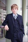 El adolescente del asunto mira adelante Fotografía de archivo libre de regalías