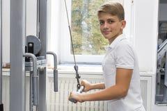El adolescente del muchacho entra para los deportes Imagen de archivo