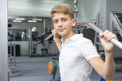 El adolescente del muchacho entra para los deportes Fotos de archivo libres de regalías