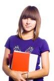 El adolescente en la escuela. Fotografía de archivo libre de regalías