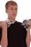 El adolescente entra para los deportes. Fotos de archivo libres de regalías