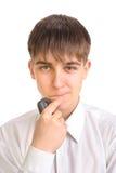 El adolescente está pensando Imagenes de archivo