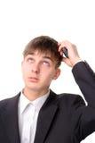 El adolescente está pensando Imágenes de archivo libres de regalías