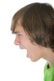 El adolescente grita en alta voz Imagen de archivo