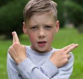 El adolescente se imagina Imagen de archivo libre de regalías