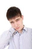El adolescente siente Neckache Imagen de archivo
