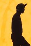 El adolescente sombrea la pared Imagen de archivo libre de regalías