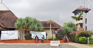 El aeródromo de l' Pernos &#x28 del DES de Ile; ILP) en Nueva Caledonia Foto de archivo libre de regalías