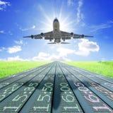 El aeroplano saca Fotografía de archivo libre de regalías