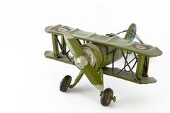 El aeroplano verde Fotos de archivo