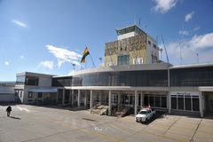 El aeropuerto de La Paz Imagen de archivo