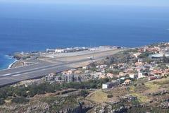 El aeropuerto en la isla Madeira Fotos de archivo libres de regalías