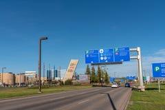 El aeropuerto internacional principal de Calgary imagen de archivo libre de regalías