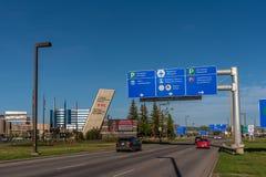 El aeropuerto internacional principal de Calgary foto de archivo