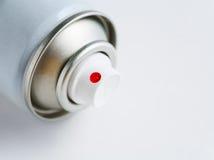 El aerosol puede en blanco Fotos de archivo libres de regalías