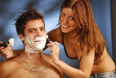 El afeitar foto de archivo