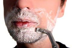 El afeitar Fotos de archivo libres de regalías