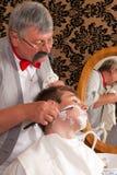El afeitar con el jabón Fotos de archivo libres de regalías
