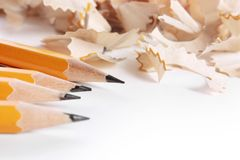 El afeitar de los lápices Foto de archivo
