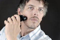El afeitar del hombre Imagen de archivo libre de regalías