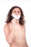 El afeitar del hombre foto de archivo libre de regalías