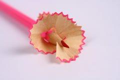 El afeitar del lápiz Imagenes de archivo