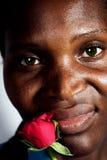 El africano se levantó Imagen de archivo libre de regalías