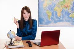 El agente Tourism cuenta con a un cliente importante Fotografía de archivo libre de regalías