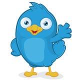 El agitar azul del pájaro Imagen de archivo libre de regalías