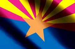 El agitar de Arizona y ejemplo coloridos de la bandera del primer libre illustration