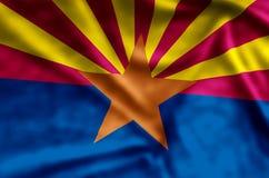El agitar de Arizona y ejemplo coloridos de la bandera del primer stock de ilustración