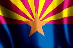 El agitar de Arizona y ejemplo coloridos de la bandera del primer ilustración del vector