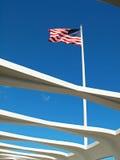 El agitar de la bandera Foto de archivo
