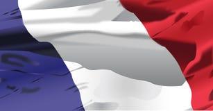 El agitar de la bandera de Francia Fotos de archivo