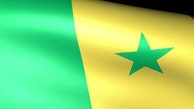 El agitar de la bandera de Senegal ilustración del vector