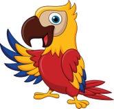 El agitar de la historieta del pájaro del Macaw libre illustration