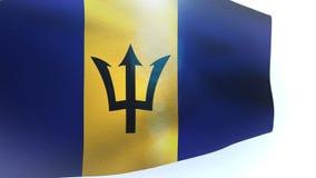 El agitar de la onda de la bandera de Barbados libre illustration