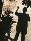 El agitar de la sombra Imágenes de archivo libres de regalías