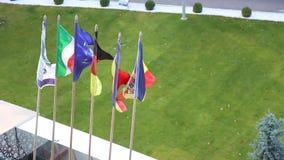 El agitar de las banderas almacen de metraje de vídeo