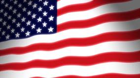El agitar del indicador americano ilustración del vector