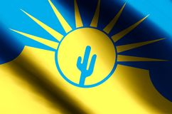 El agitar del Mesa Arizona y ejemplo coloridos de la bandera del primer libre illustration