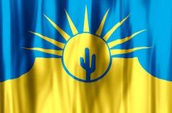 El agitar del Mesa Arizona y ejemplo coloridos de la bandera del primer ilustración del vector